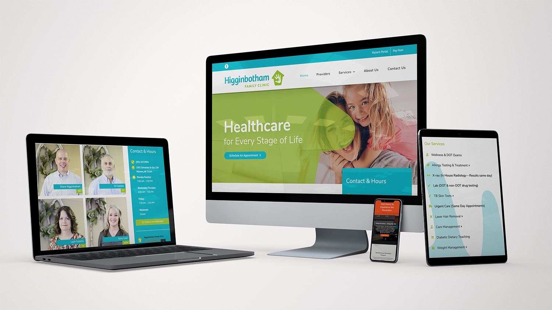 Higginbotham Family Clinic Website