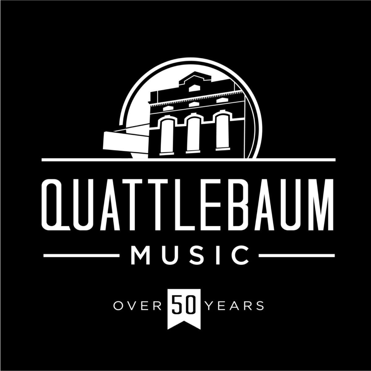 Quattlebaum Music 50 Year logo