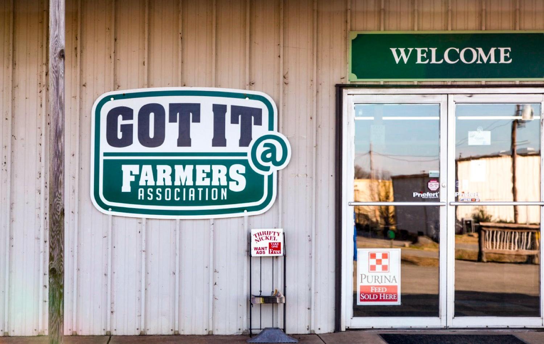 Farmers Association Signage